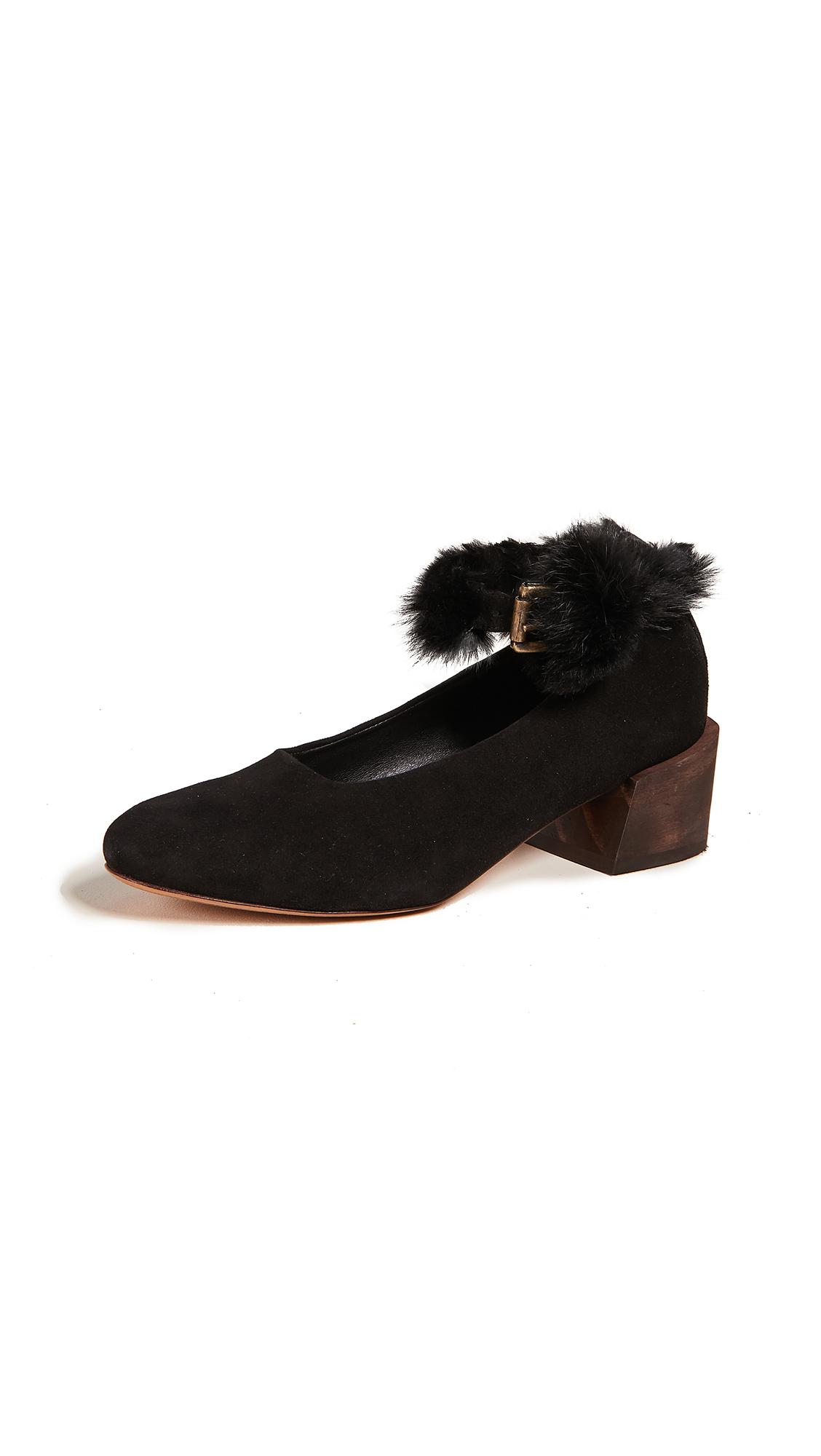 Mari Giudicelli Pina Ballerina Pumps - Black