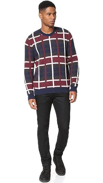 Editions M.R. Check Jacquard Sweater
