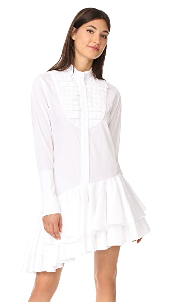 Maggie Marilyn Super Human Shirtdress In White