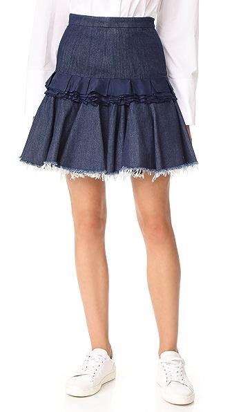 Maggie Marilyn Composed Miniskirt In Indigo
