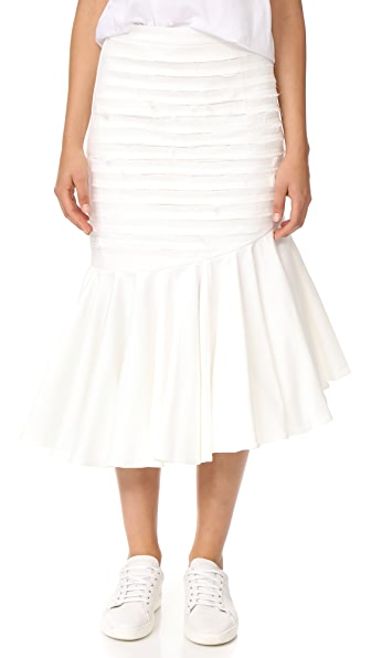 Maggie Marilyn Make It a Great One Slashed Skirt - Ivory