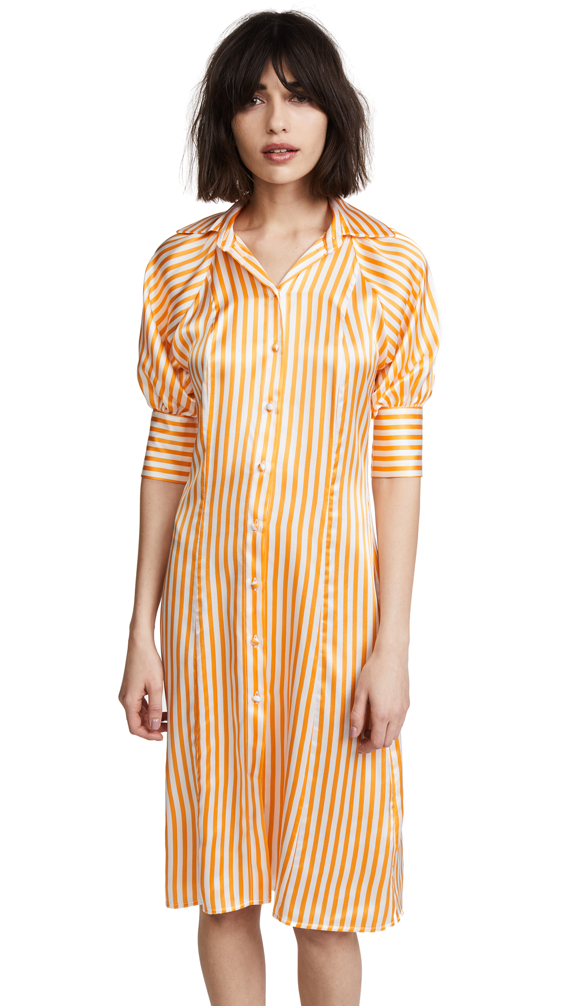 Maggie Marilyn Toni Shirt Dress In Sunshine Stripe