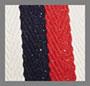 Red/Cream/Navy Stripe
