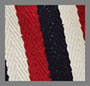 Red/Cream/Blue Stripe