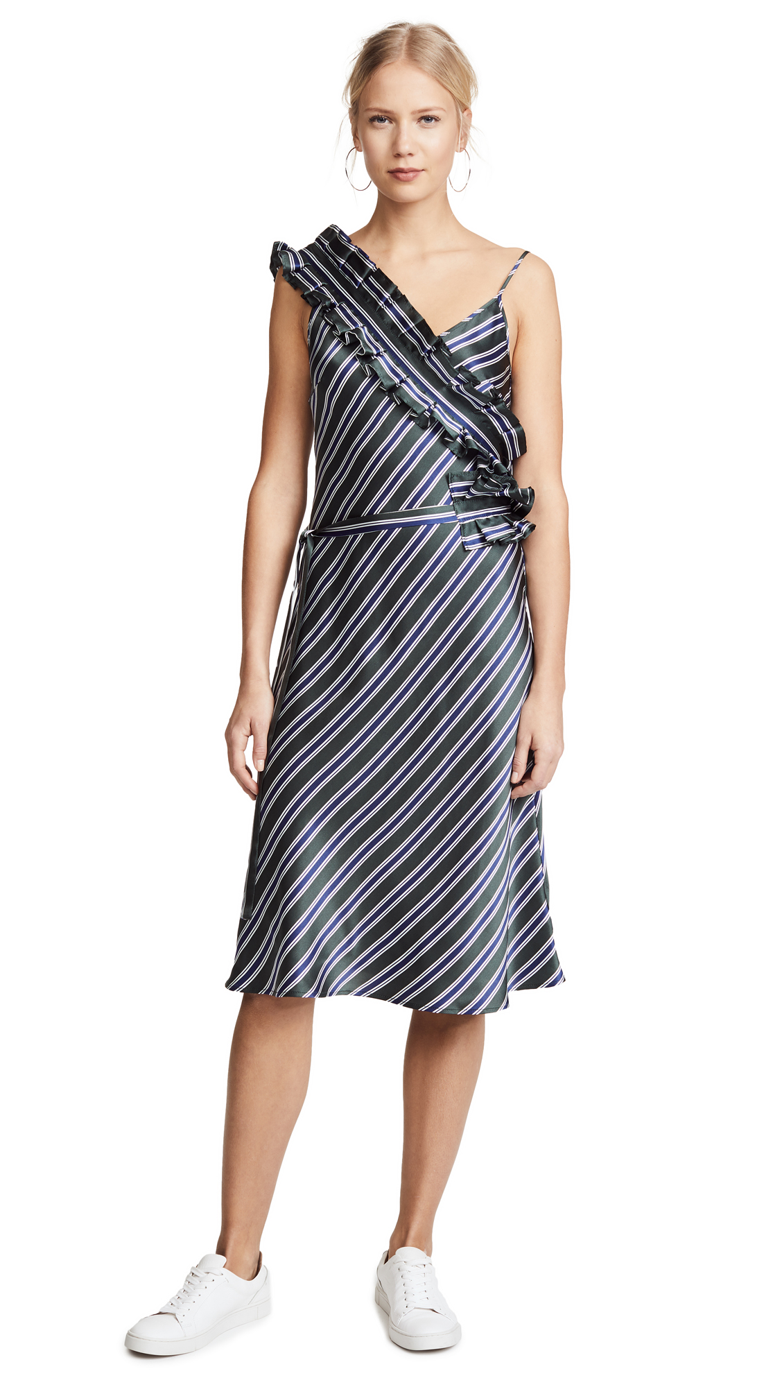 Maggie Marilyn I Need You by My Side Dress - Pine Stripe