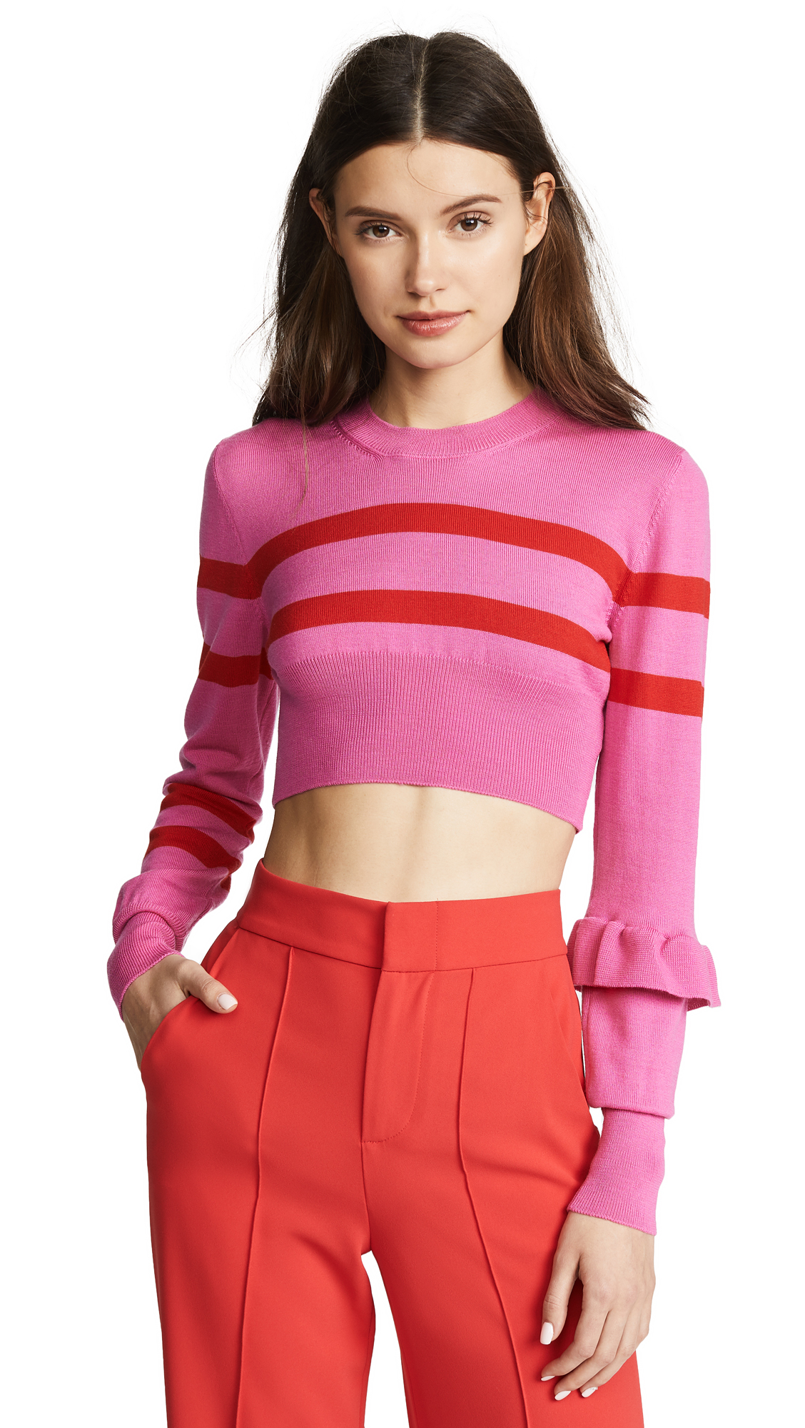 Maggie Marilyn The Believer Knit Top In Hot Pink