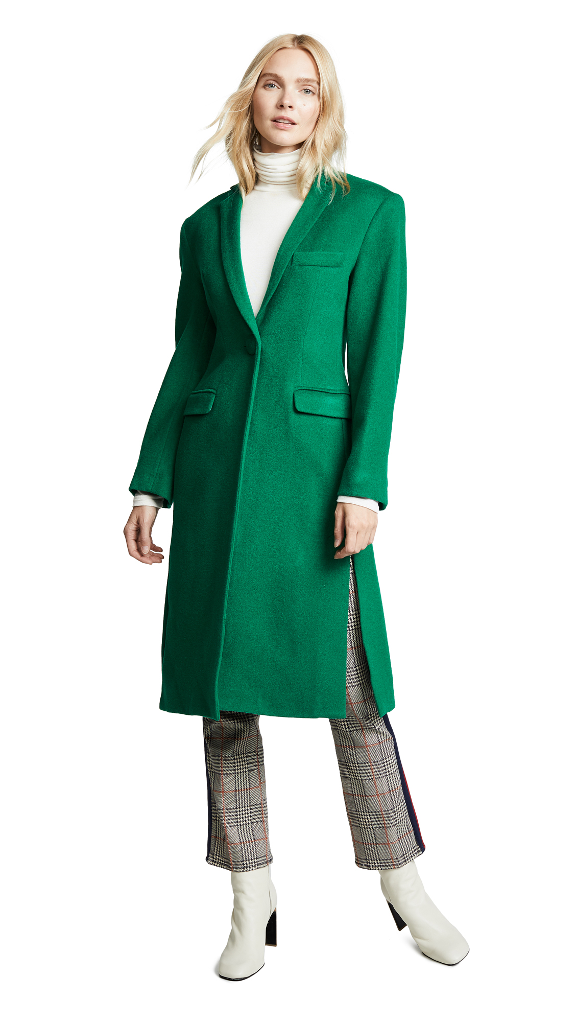 Maggie Marilyn Trust Your Instincts Coat In Bright Green