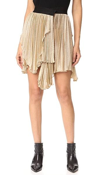 Maria Lucia Hohan Risha Asymmetrical Skirt In Gold