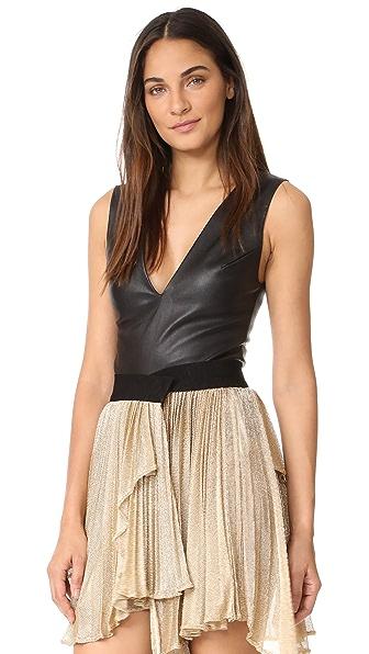 Maria Lucia Hohan Leather Tamira Bodysuit