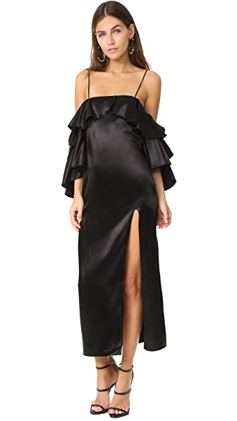 Maria Lucia Hohan Larissa High Slit Dress - Black