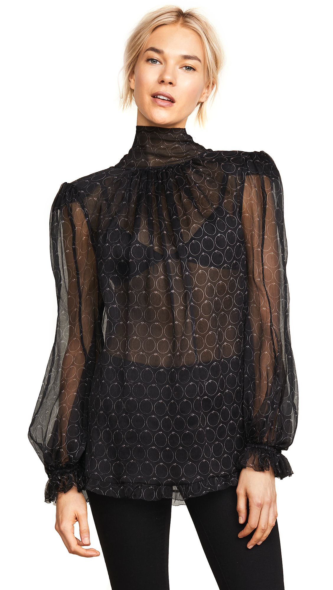 Maria Lucia Hohan Baqa Blouse In Black