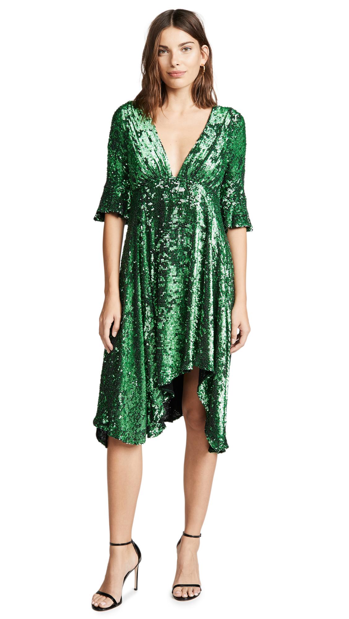 Arielle Dress in Emerald
