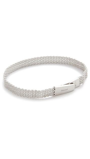 Miansai Sterling Silver Mesh Chain Wrap Bracelet