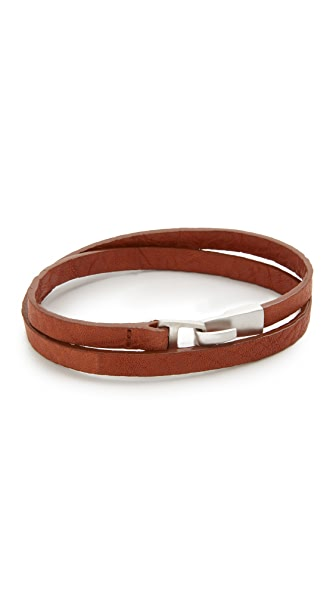 Miansai Moore Leather Wrap Bracelet