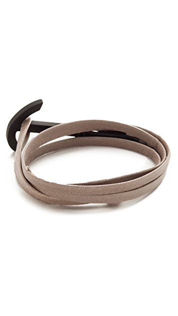Miansai Modern Anchor Two Tone Wrap Bracelet
