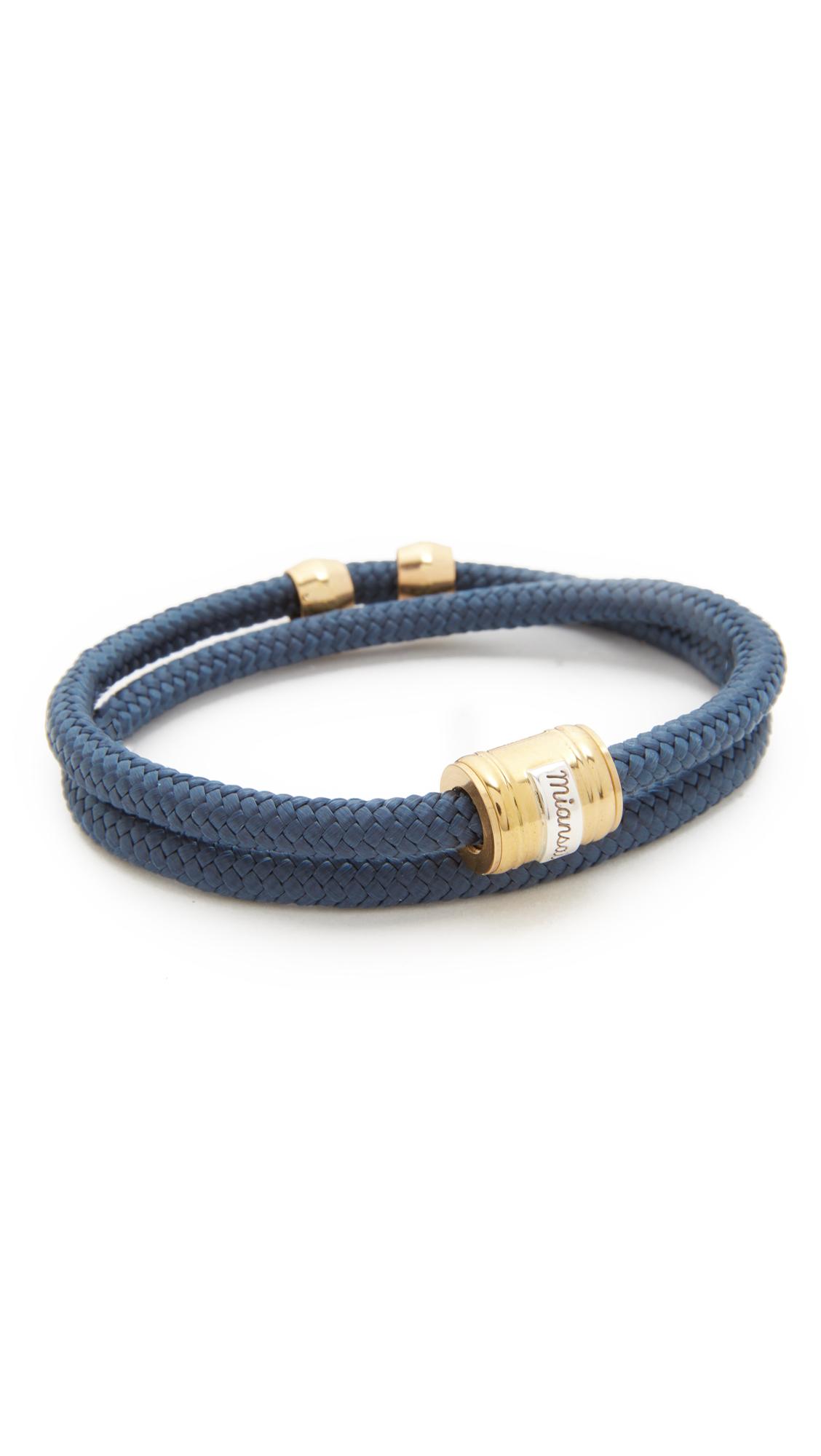 Miansai Casing Rope Bracelet - Brass/Solid Navy SFLh6