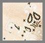棕褐色丝质印花