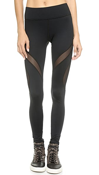 MICHI Spiral Leggings - Black