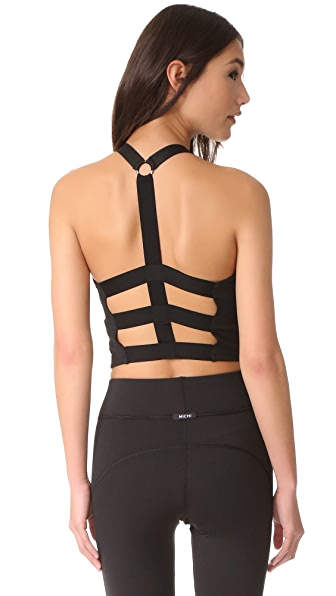 MICHI Matrix Bustier Top - Black