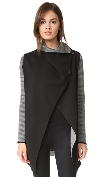 MICHI Dusk Wrap Jacket - Grey/Black
