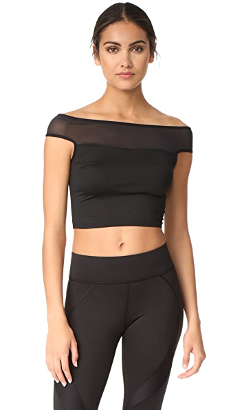 MICHI Lightning Crop Top - Black
