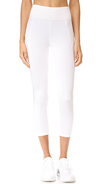 MICHI Stardust Crop Leggings - White