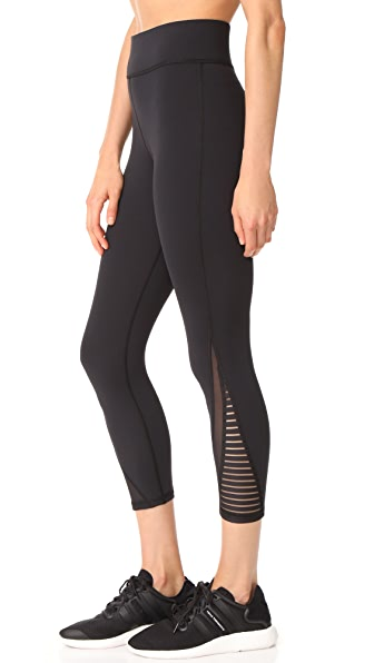 MICHI Apex Crop Leggings In Black