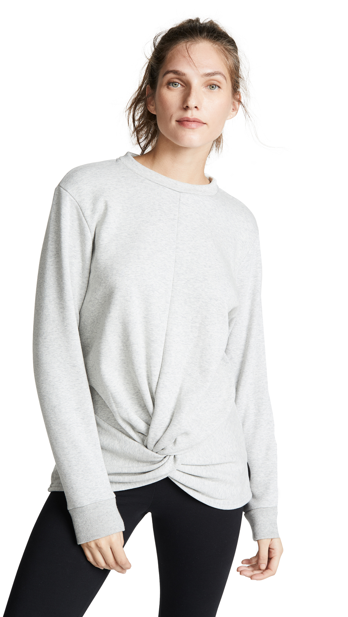 MICHI Farfalla Sweatshirt in Light Heather Grey