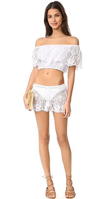 Miguelina Minnie Mirage Lace Shorts