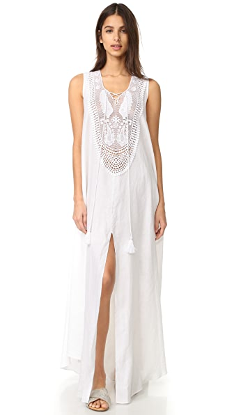 Miguelina Lana Linen Maxi Dress