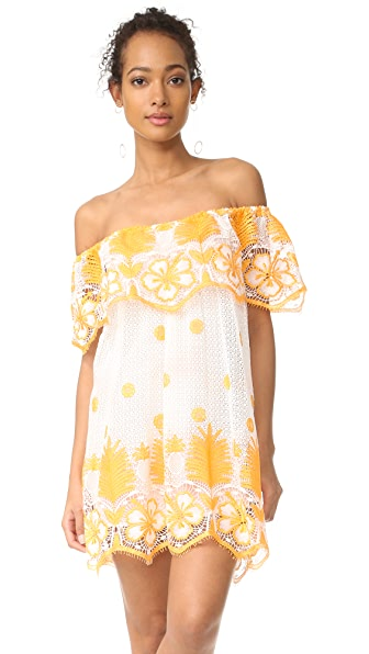 Miguelina Angeligue Off the Shoulder Dress - White/Mango