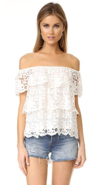 Miguelina Angelica Off the Shoulder Top In White