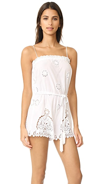 Miguelina Peggy Versailles Romper In Pure White
