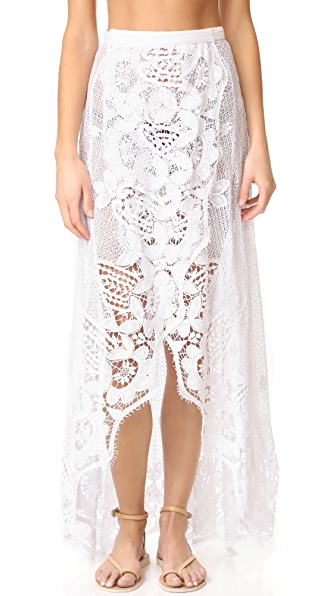 Miguelina Valencia Maxi Skirt In Pure White