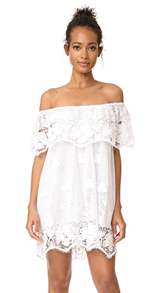 Miguelina Angelique Off the Shoulder Dress - Pure White