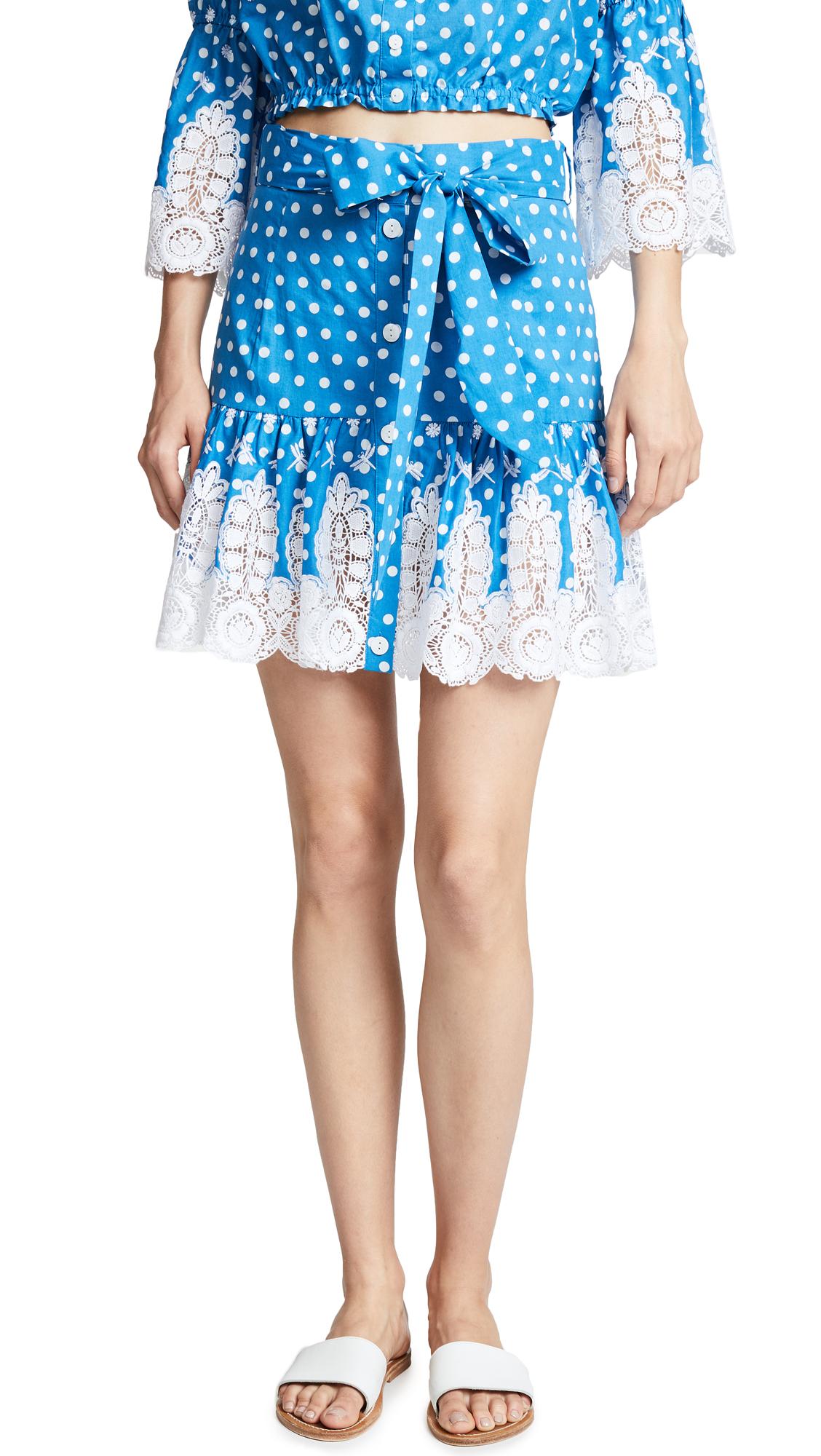 MIGUELINA Emy Skirt in Mediterranean Blue