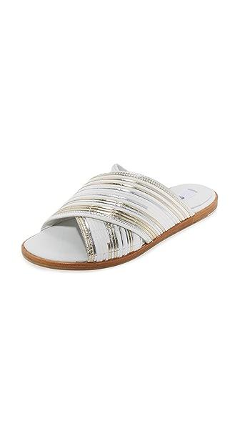 Miista Deb Slides In Silver