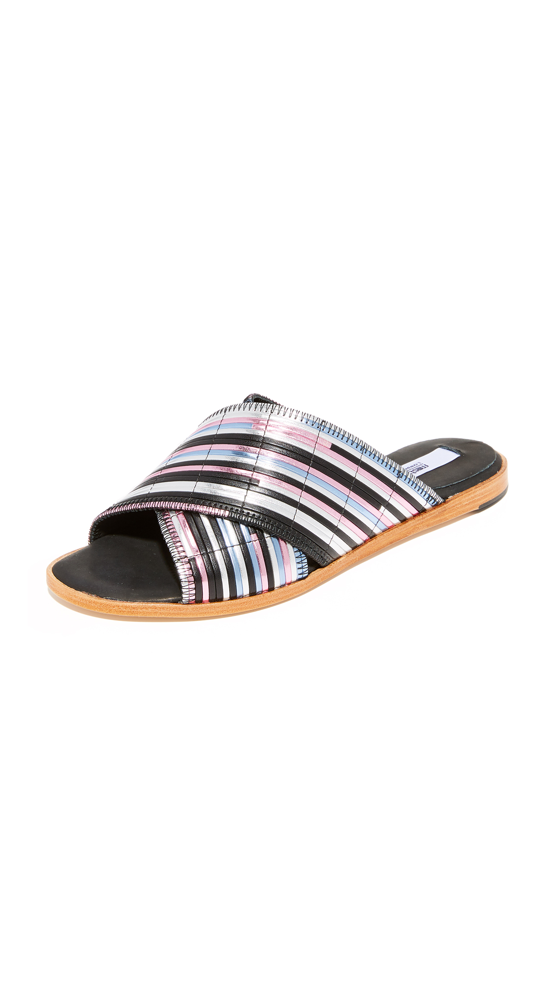 Miista Deb Slides - Black