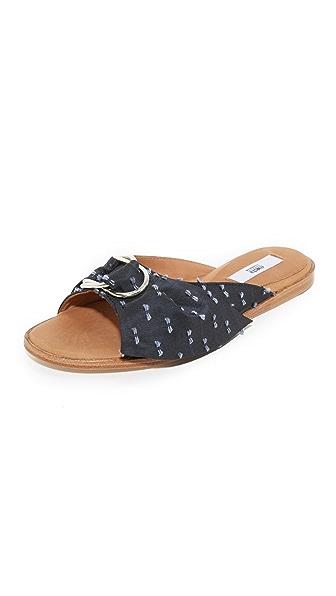 Miista Jeni Slides - Navy Bows