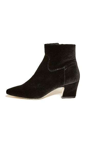 Miista Lorelle Velvet Booties In Black
