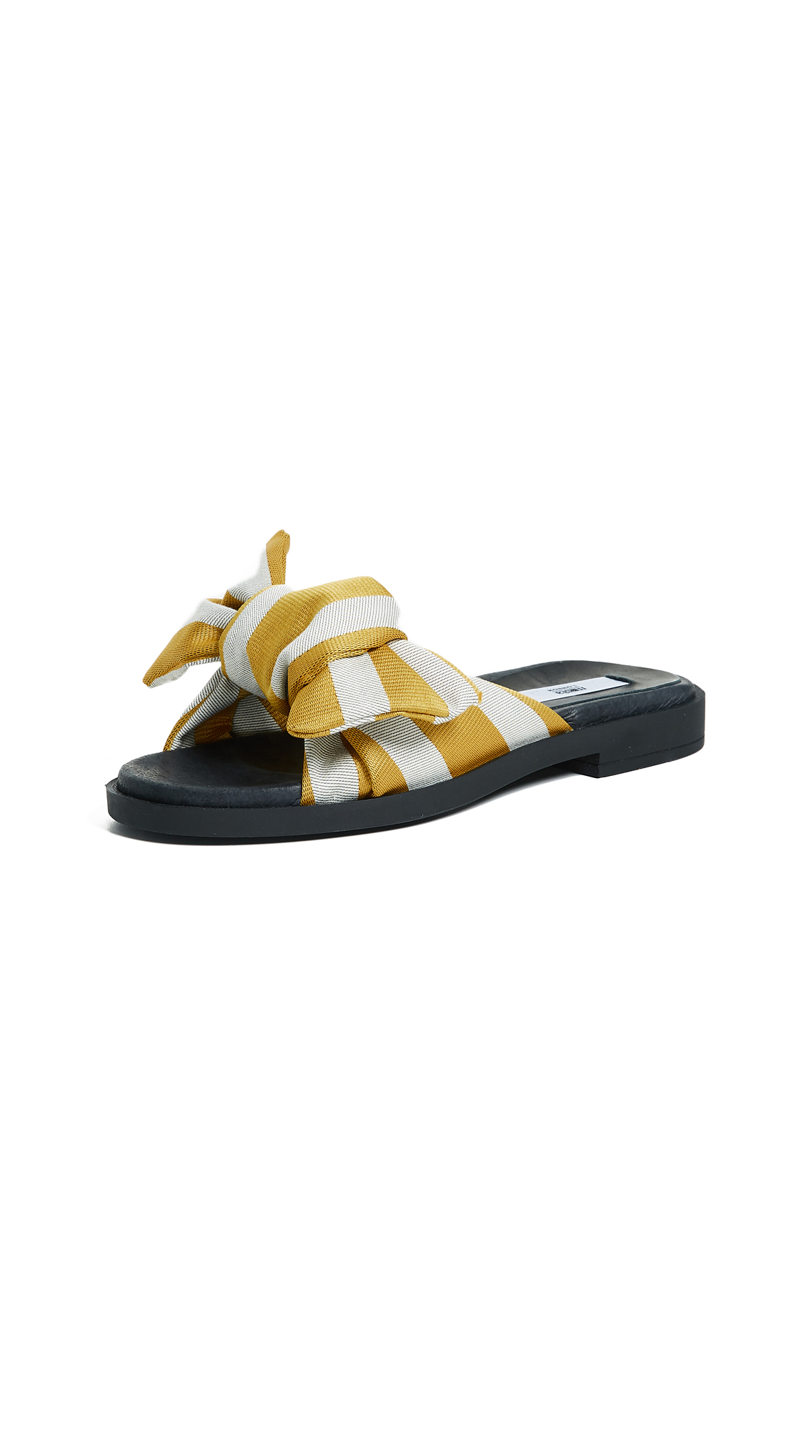 Miista Valerie Bow Sandals - Egg Stripe