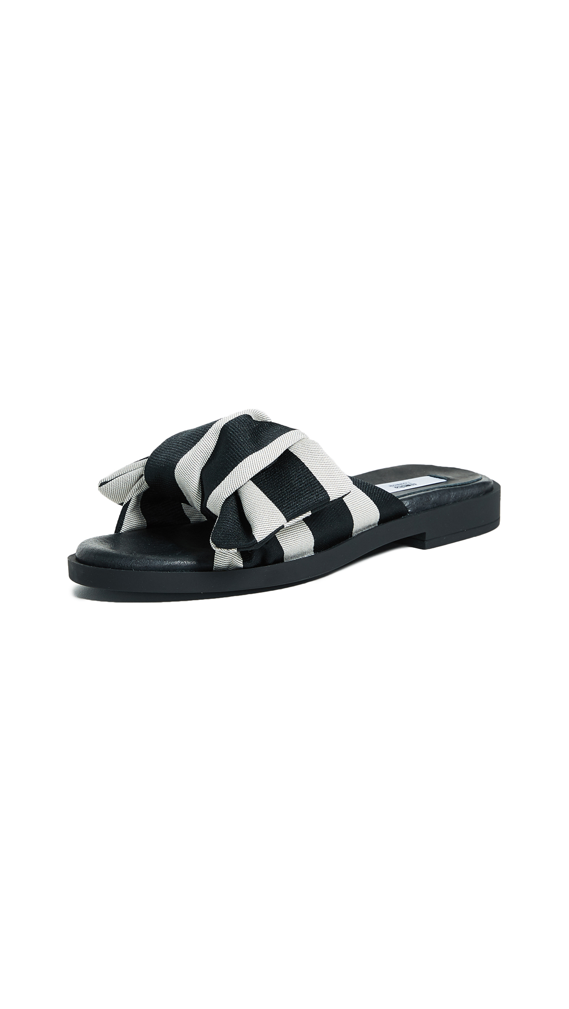 Miista Valerie Bow Sandals - Black Stripe