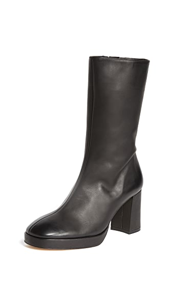 Miista Carlota Block Heel Boots In Black