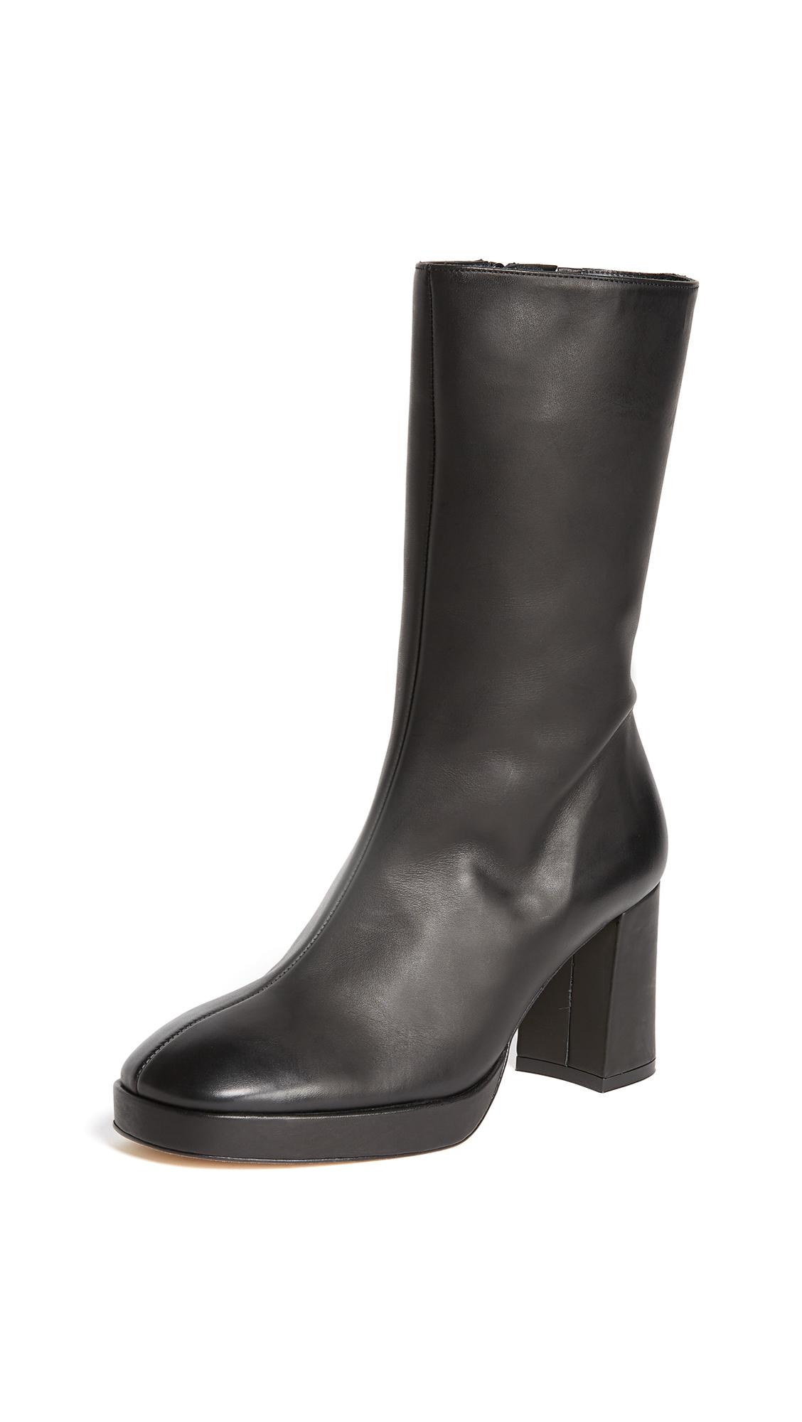 Miista Carlota Block Heel Boots - Black