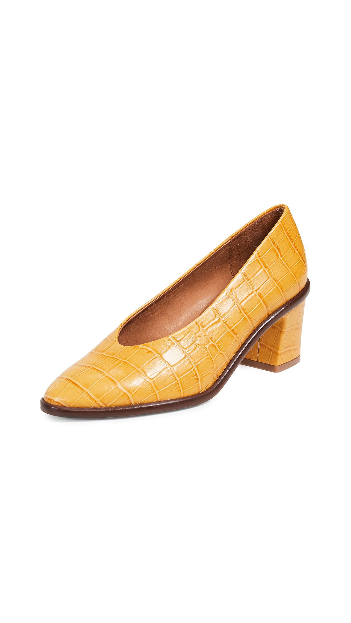 Miista Bernadette Block Heel Pumps - Yellow