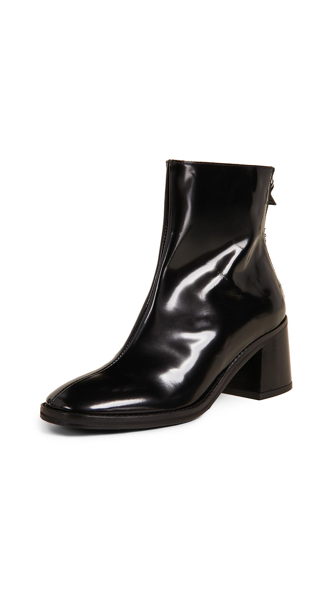 Miista Cybil Block Heel Booties - Black