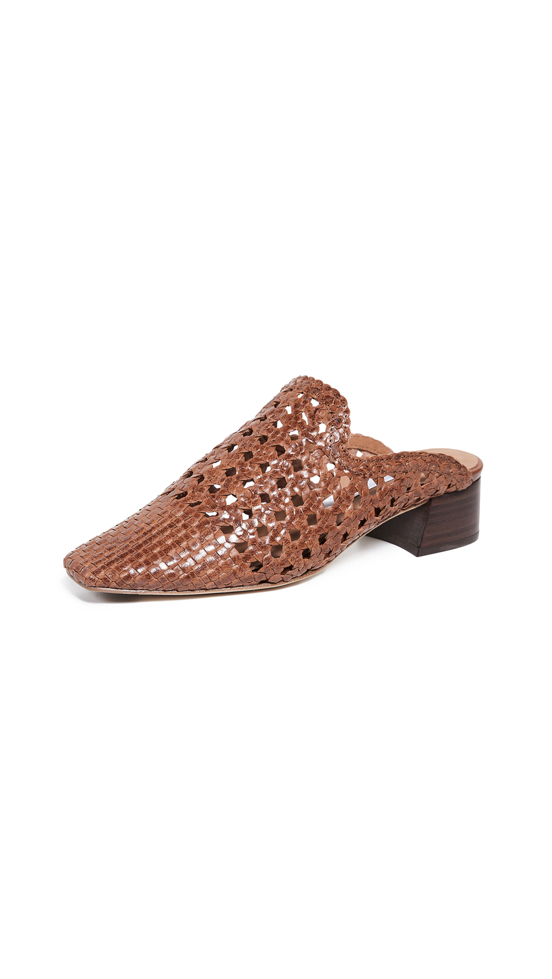 Miista Ida Block Heel Mules - Brown
