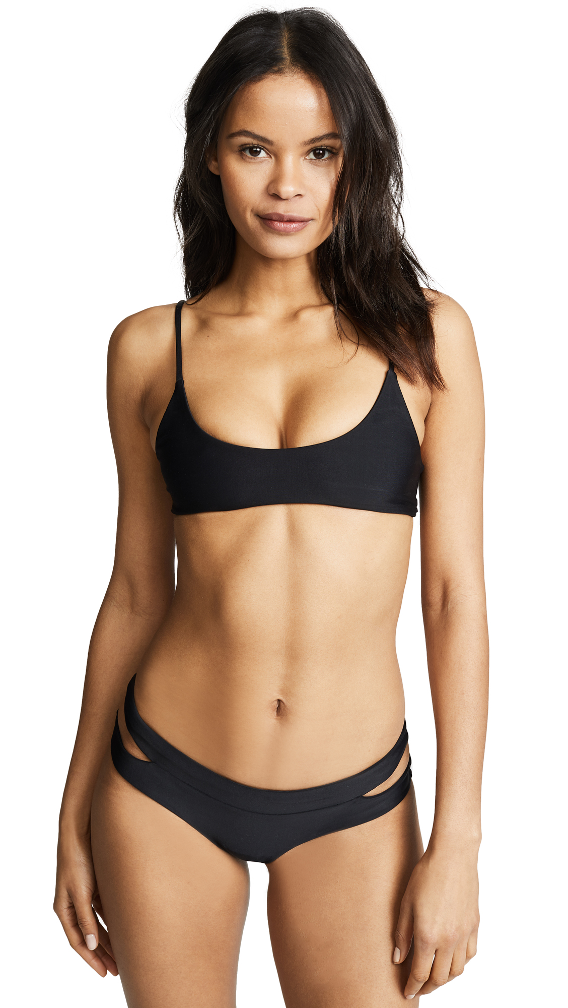 MIKOH Hermosa Scoop Bikini Top In Night