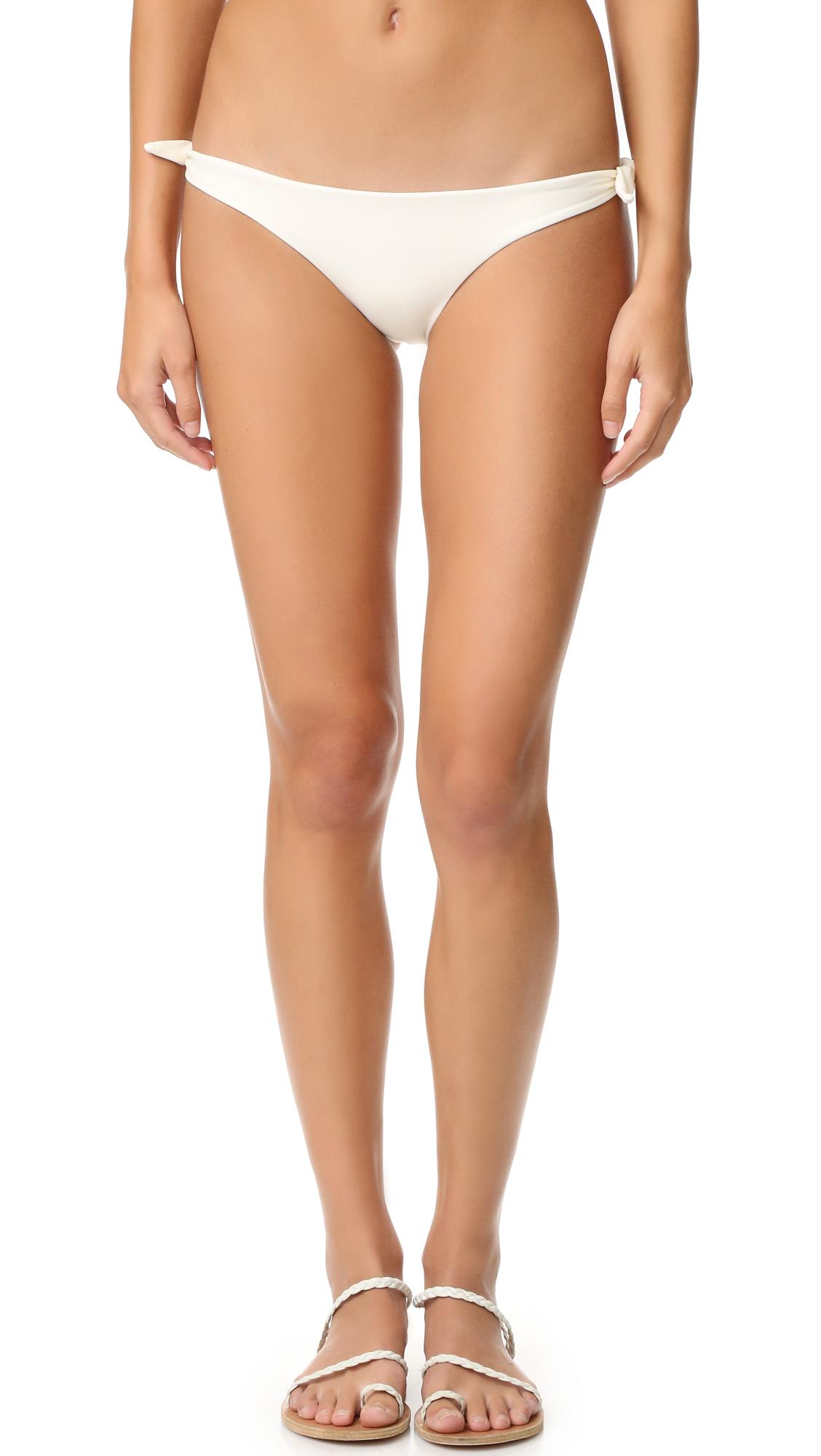 MIKOH Valencia Knot Bikini Bottoms In Bone