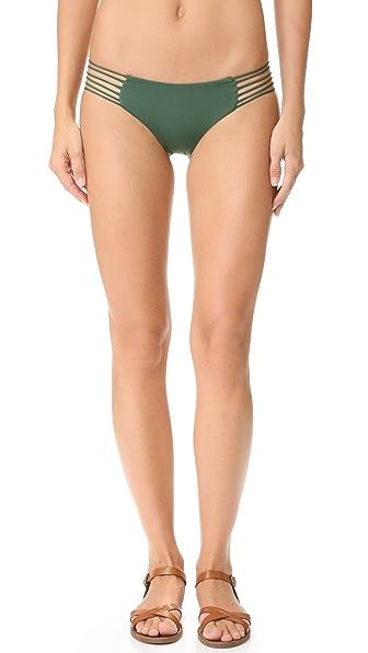MIKOH Kapalua String Side Bikini Bottoms - Forest
